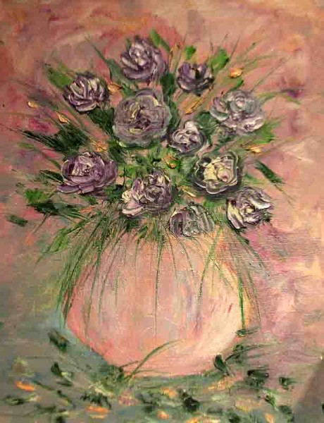 Picturi cu flori Trandafiri mov