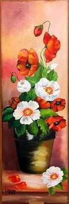 Picturi cu flori Flori in ghiveci 001
