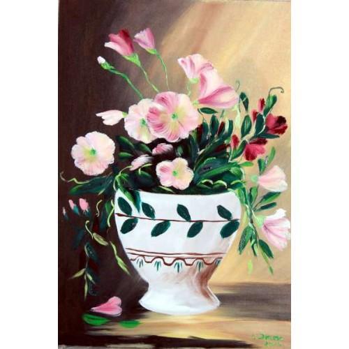 Picturi cu flori Flori roz 001