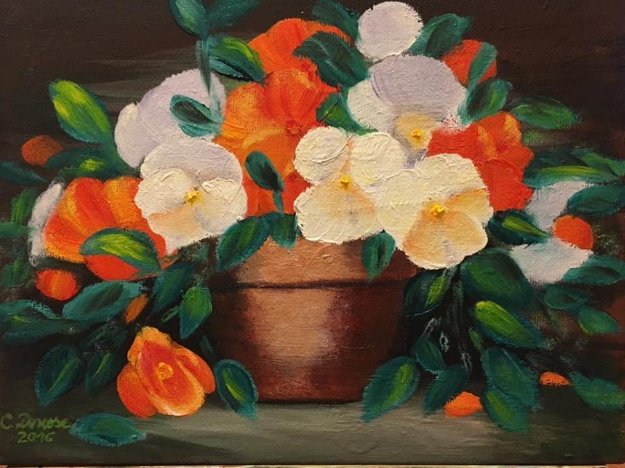 Picturi cu flori Panselute 002
