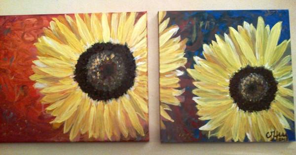 Picturi cu flori Soare de floare