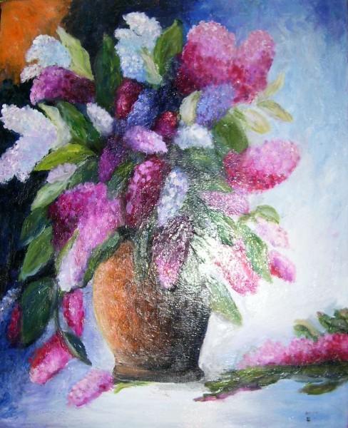 Picturi cu flori Flori liliac