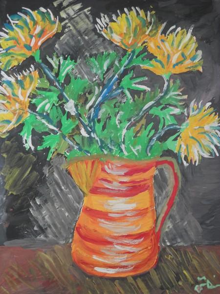 Picturi cu flori Crizanteme1