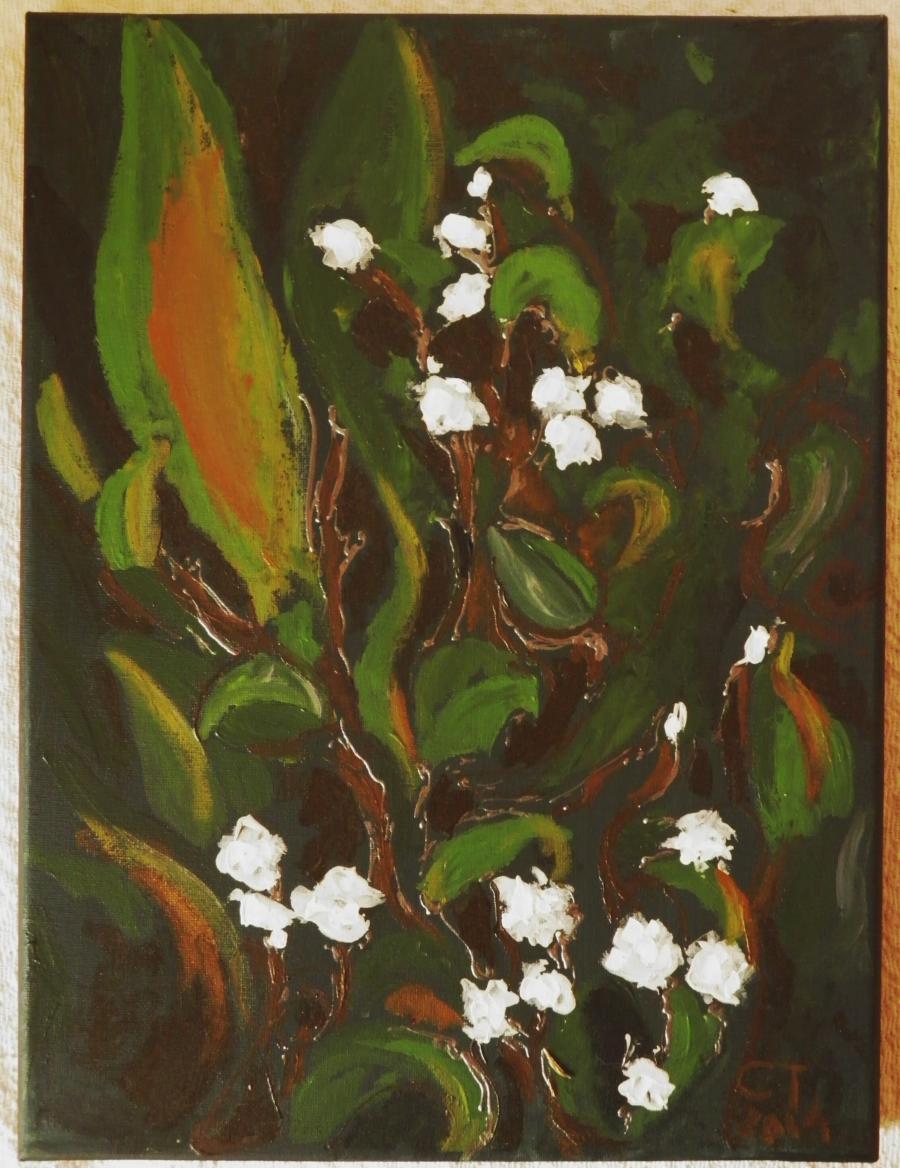 Picturi cu flori Margaritarele gradinii