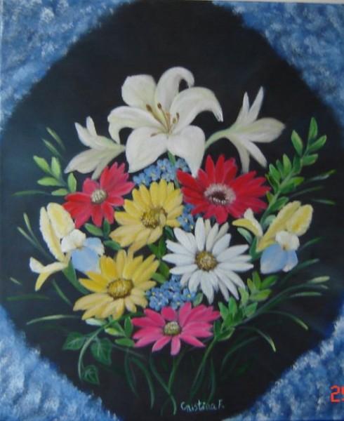 Picturi cu flori Buchet3