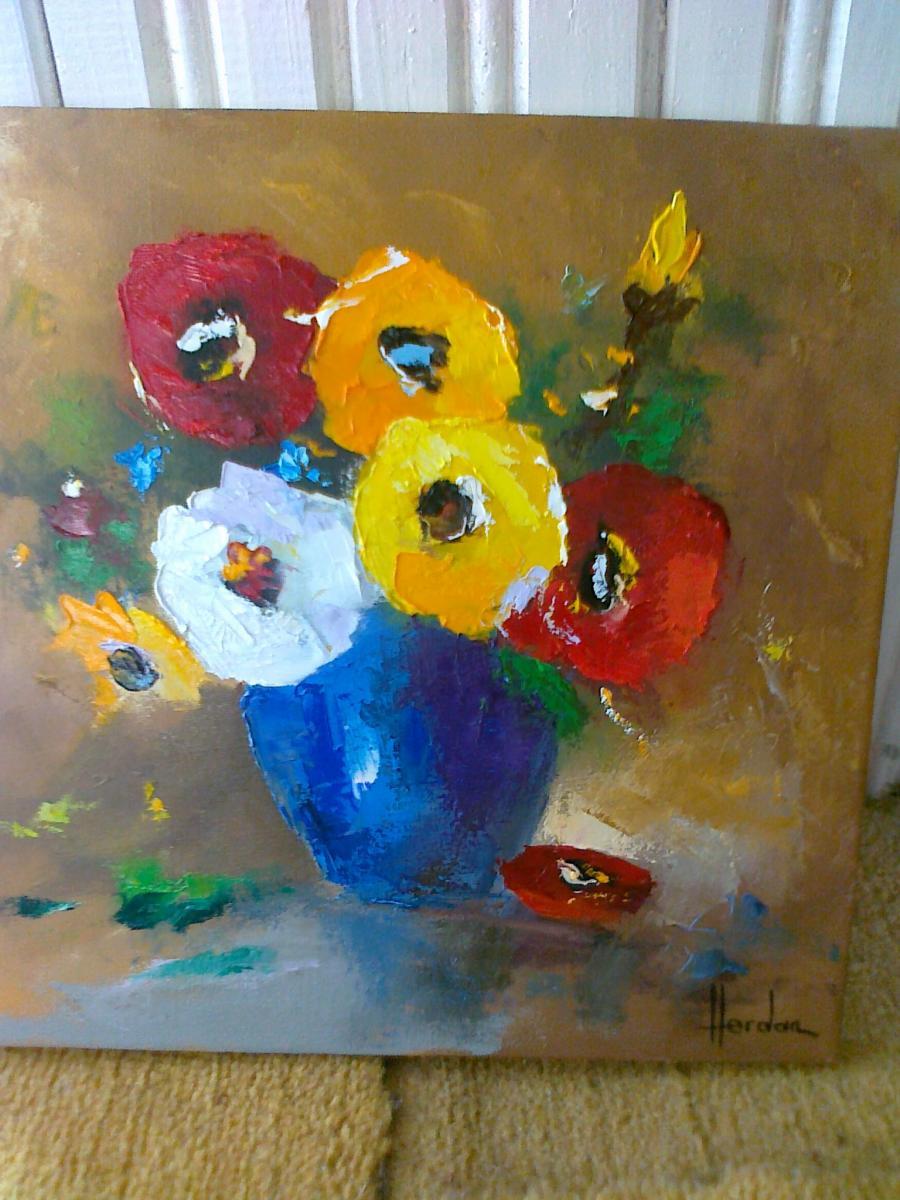 Picturi cu flori ANEMONE 3