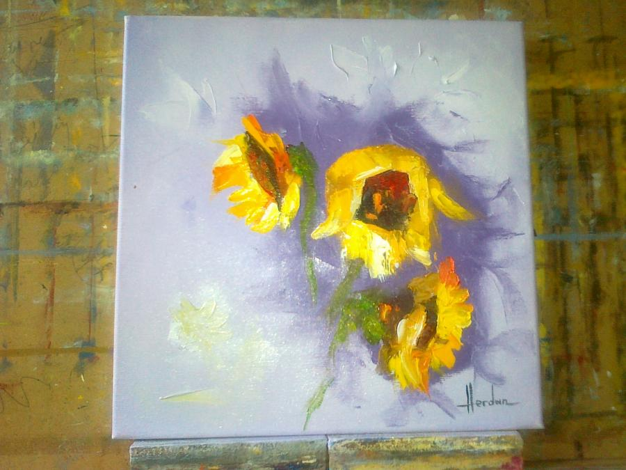 Picturi cu flori floarea soarelui 8