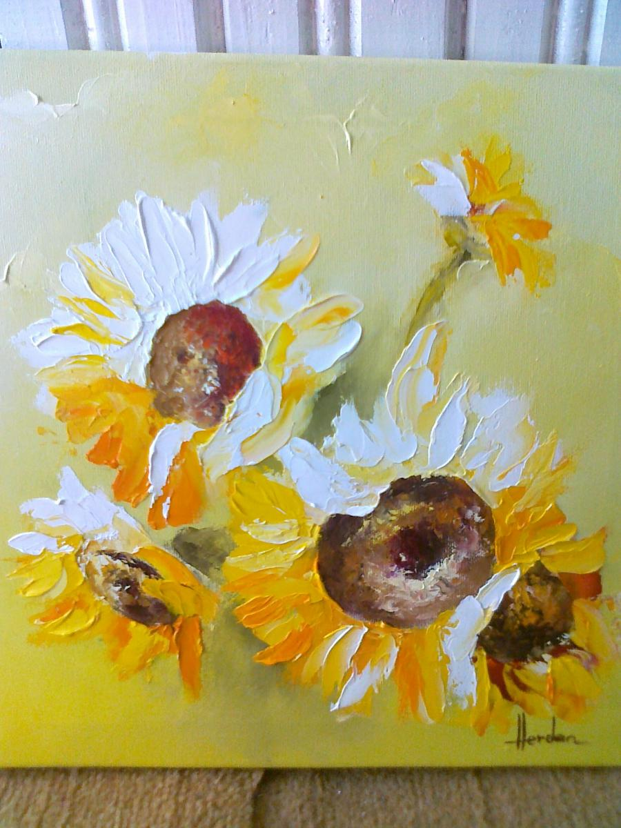 Picturi cu flori LINISTEA DIMINETII