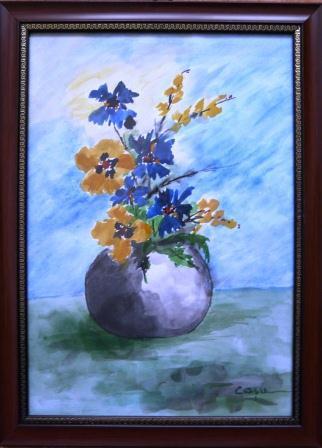 Picturi cu flori Flori de camp acuarela