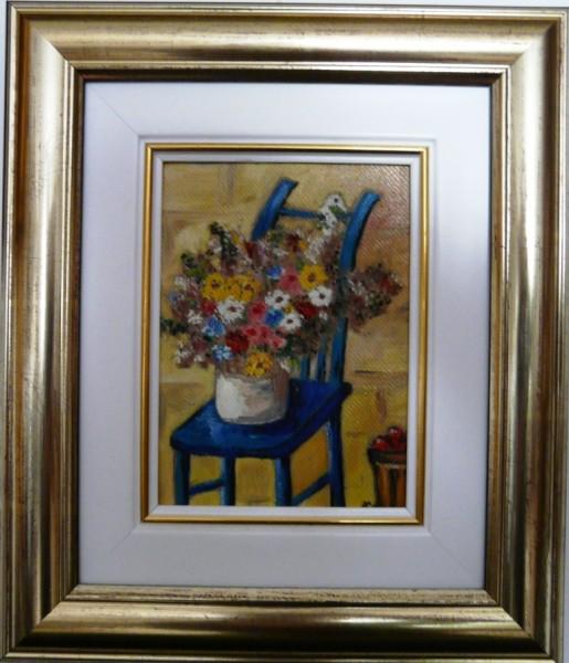 Picturi cu flori Flori de camp pe scaun