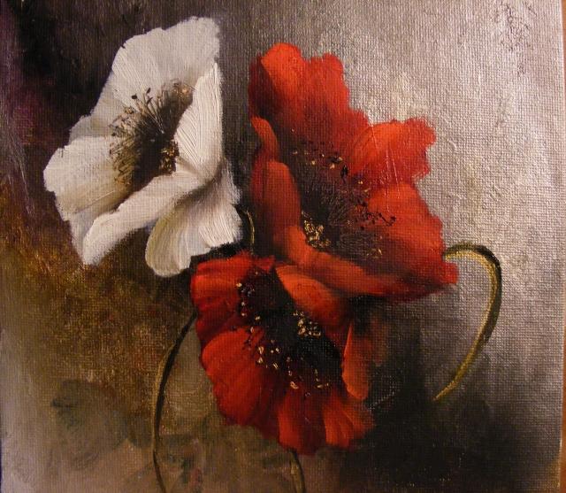 Picturi cu flori 3 Maci III