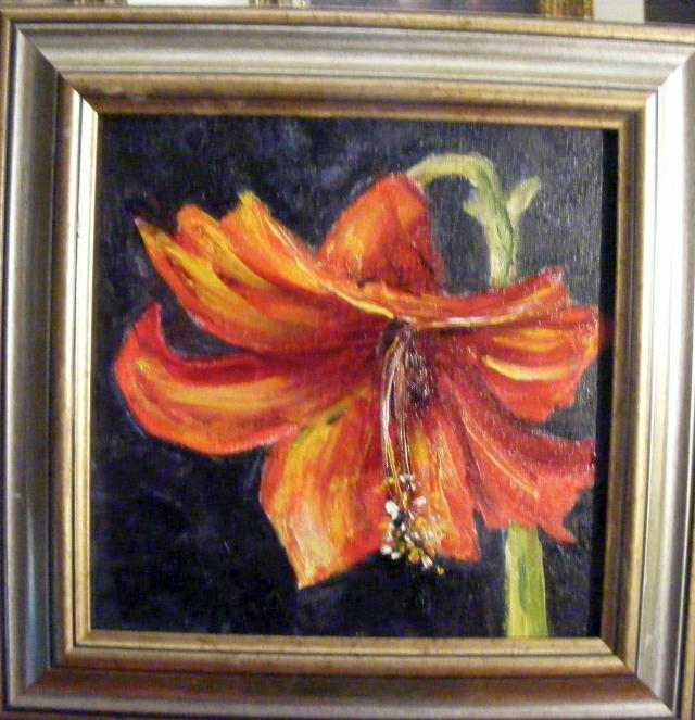 Picturi cu flori Amarillys rosu