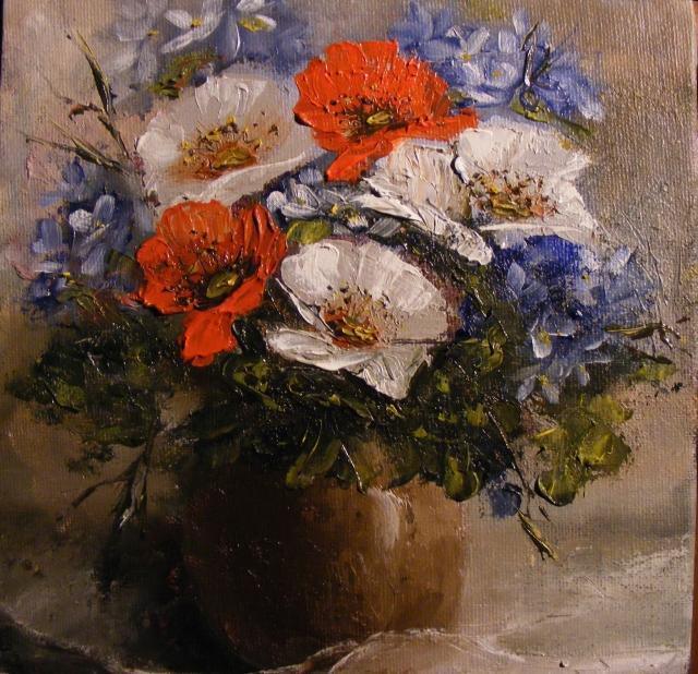 Picturi cu flori Amintiri de vara