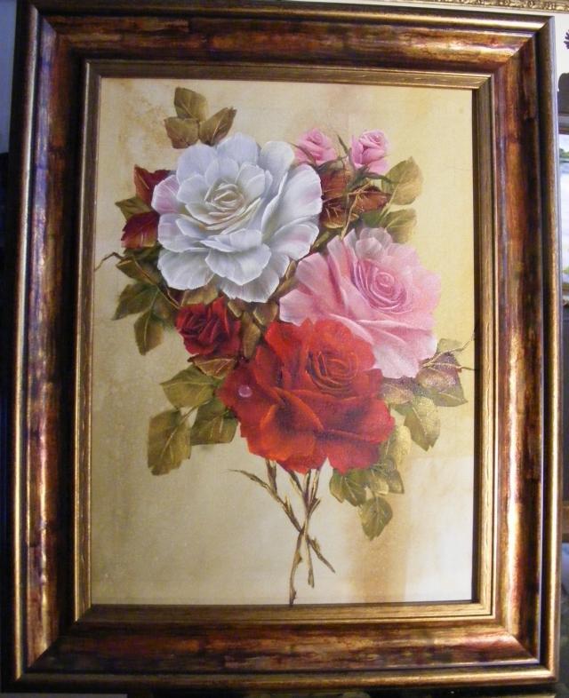 Picturi cu flori Buchet de vara inrourat