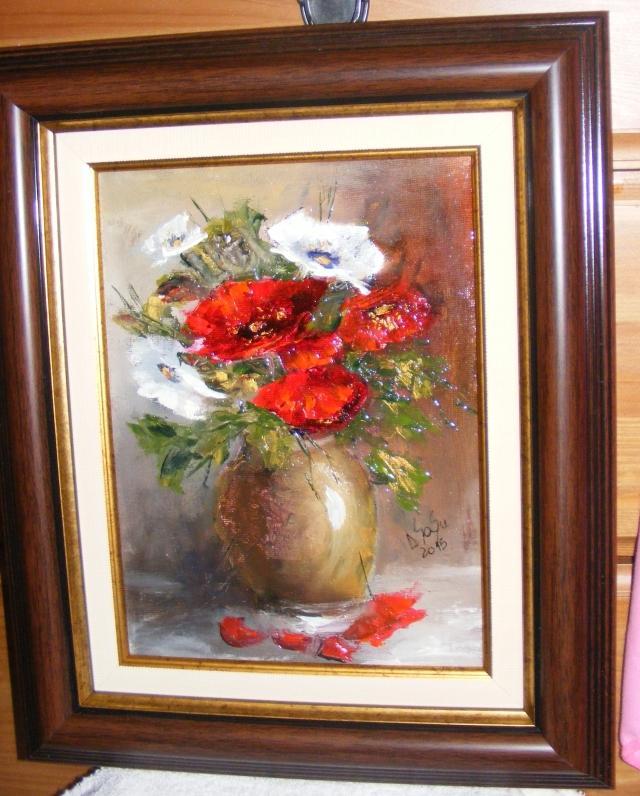 Picturi cu flori Cativa maci