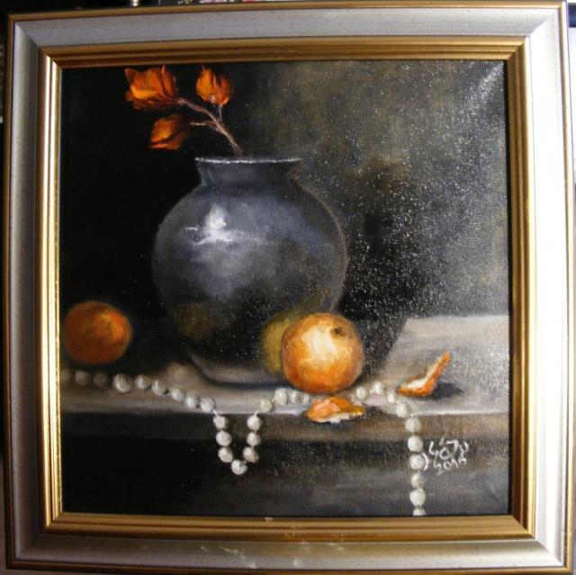 Picturi cu flori Clarobscur cu fructe