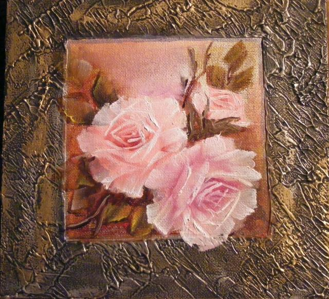 Picturi cu flori Evadare in roz