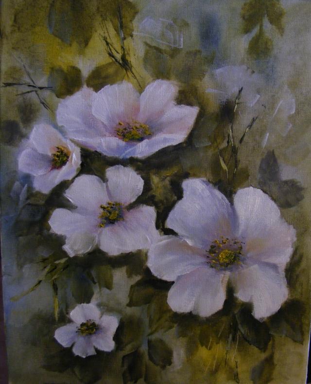 Picturi cu flori Flori de gutui