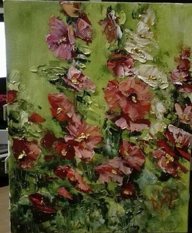 Picturi cu flori Flori  de nalba