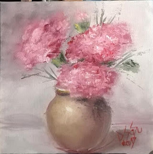 Picturi cu flori Garoafe roz