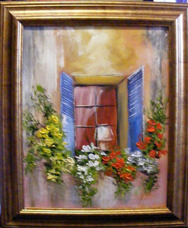 Picturi cu flori Lumina din fereastra