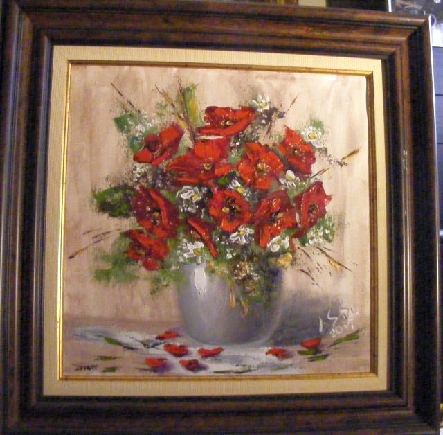 Picturi cu flori Maci in vas de alabastru
