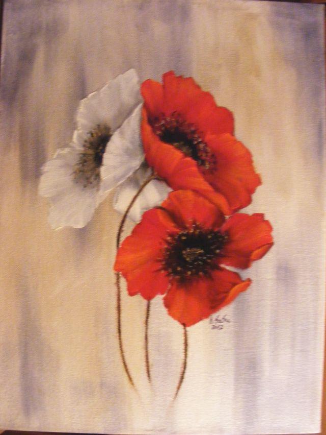Picturi cu flori Magia macilor