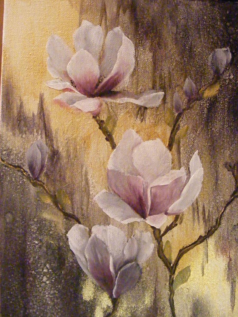 Picturi cu flori Magnolii diafane