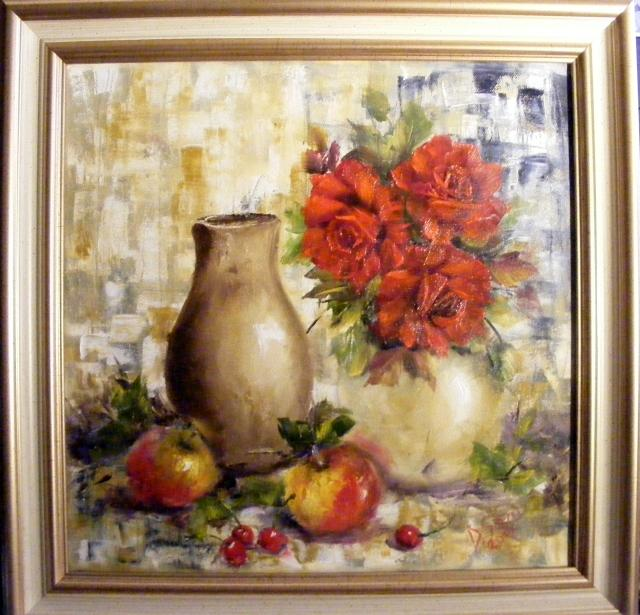 Picturi cu flori Mere si vase