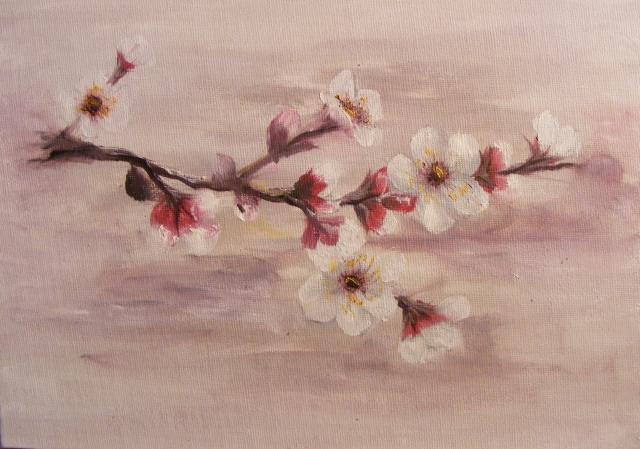 Picturi cu flori Piersic in floare