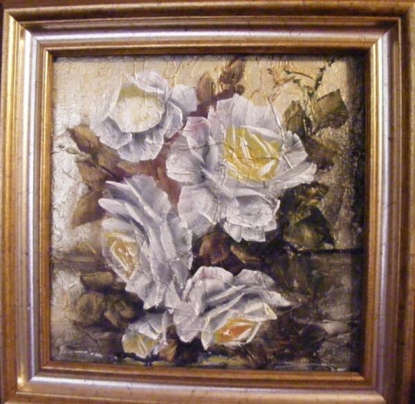 Picturi cu flori Roze albe