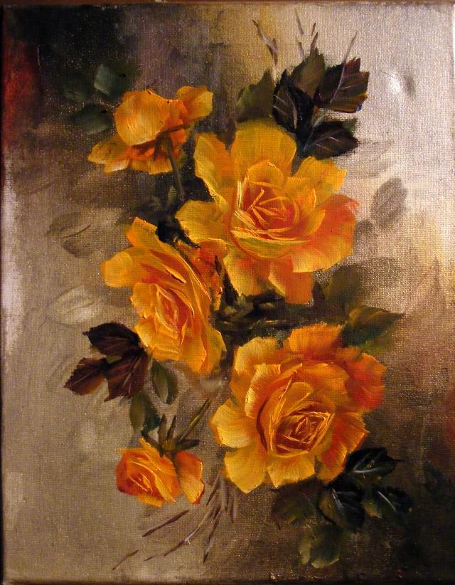 Picturi cu flori Tomnatice roze