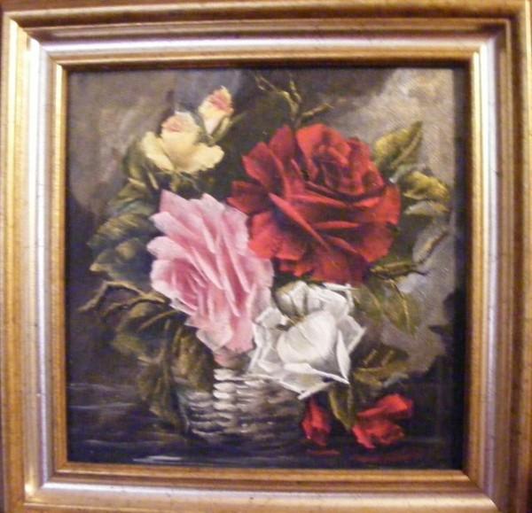 Picturi cu flori Trandafiri in cos