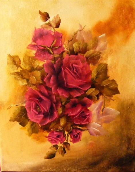 Picturi cu flori Trandafiri violet