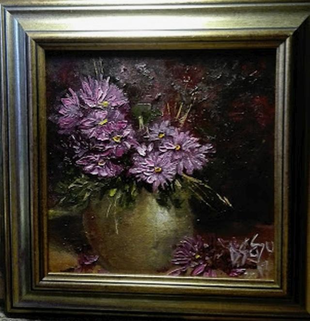 Picturi cu flori Tufa de tufanele