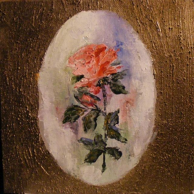 Picturi cu flori Un fir de trandafir