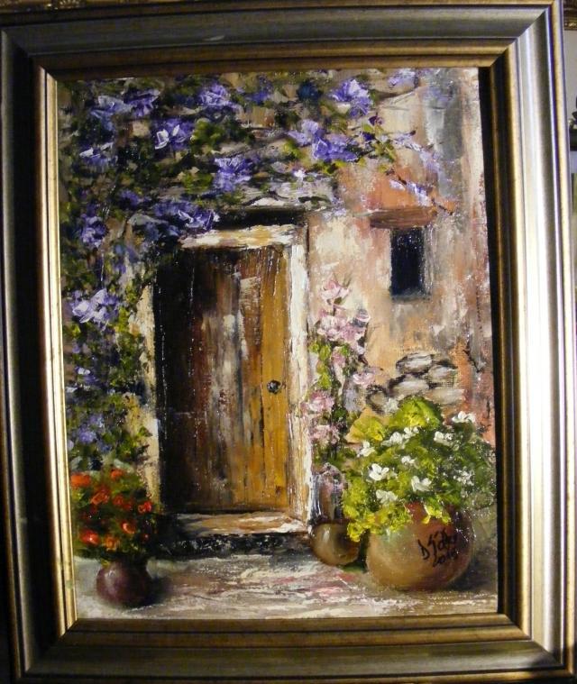 Picturi cu flori Usa casei parasite