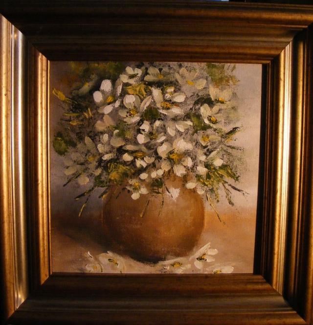 Picturi cu flori Vas cu flori de iasomie