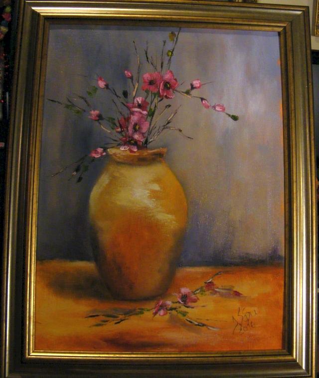Picturi cu flori Vasul cu flori de mar