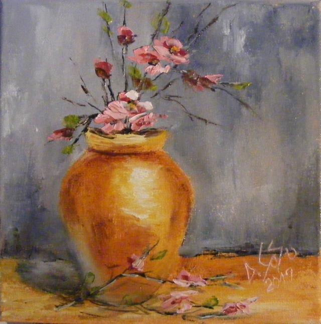 Picturi cu flori Vasul cu flori de mar I