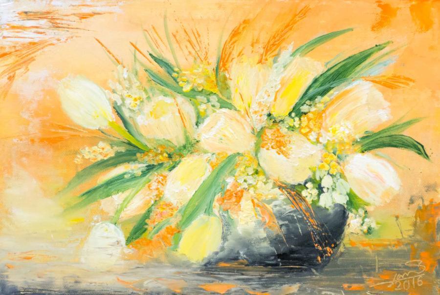 Picturi cu flori primavara pasionala