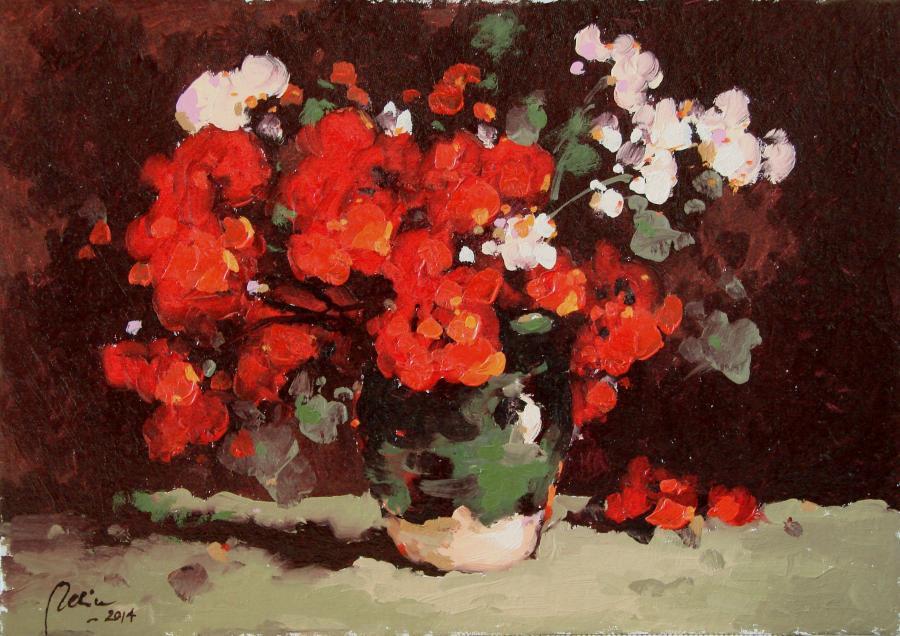 Picturi cu flori cana cu muscate