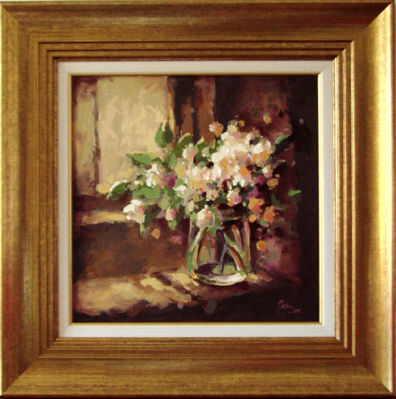 Picturi cu flori flori in geam
