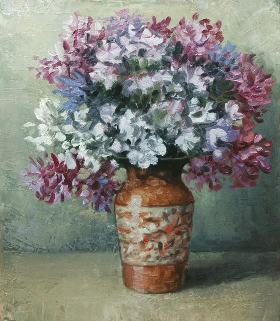 Picturi cu flori vaza cu flori e.s. 2017