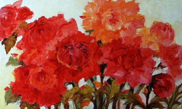 Picturi cu flori Fericire la buchet