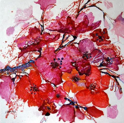 Picturi cu flori Galanta roz
