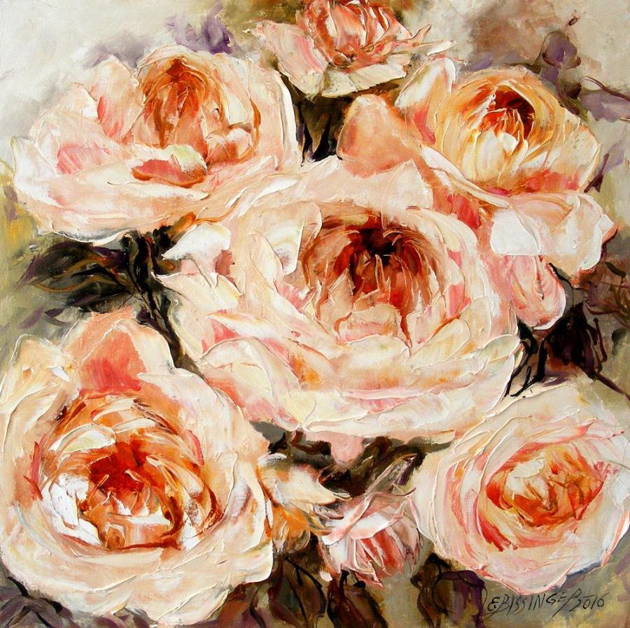 Picturi cu flori Inima de bujor