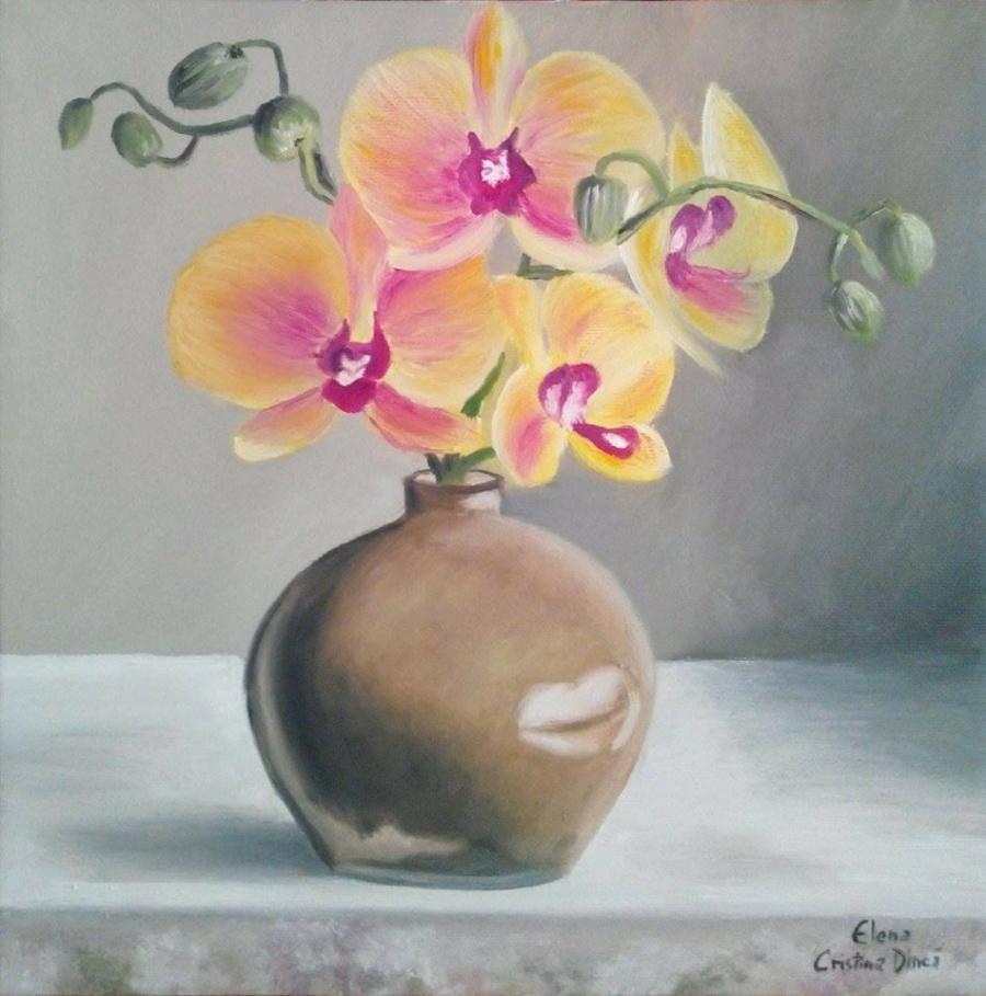 Picturi cu flori Beautiful orchid