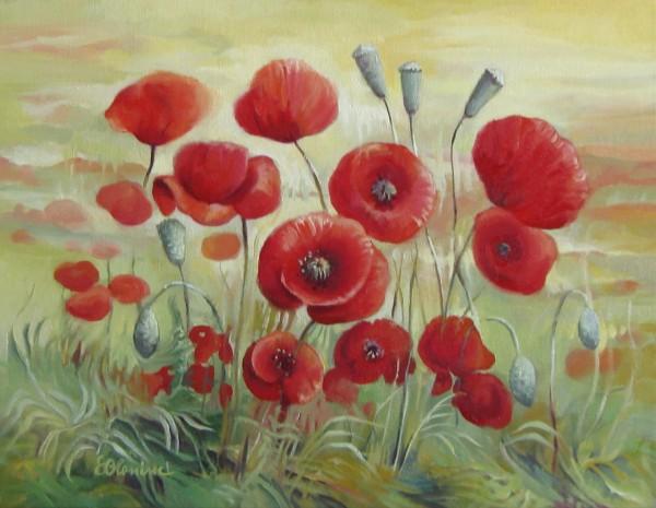Picturi cu flori Maci 4
