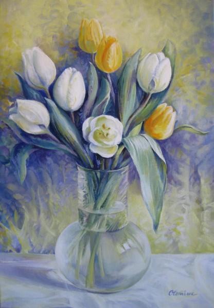 Picturi cu flori Vas cu flori